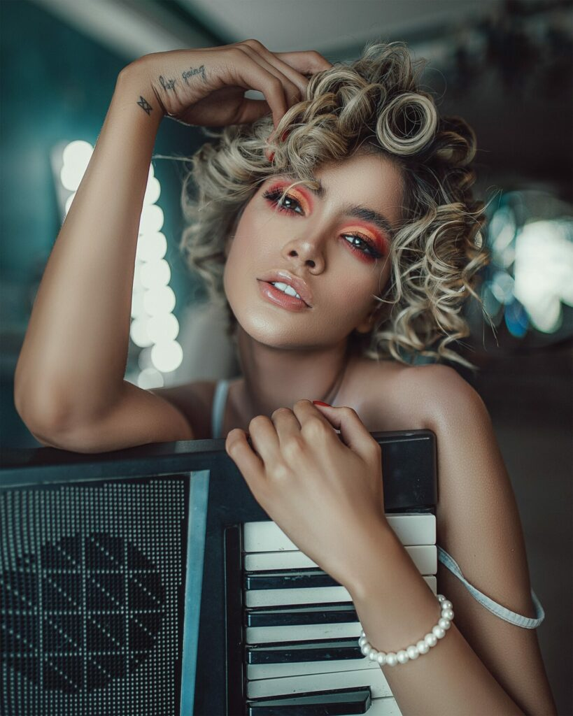 Frisuren mit Korkenzieherlocken